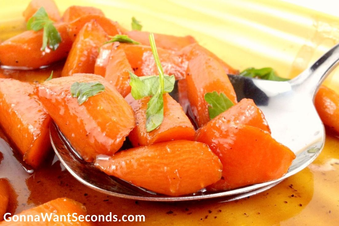 Brown Sugar Carrots on a spoon