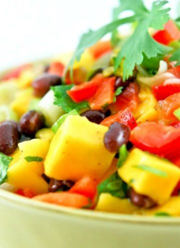 Mango Black Bean Salad in a bowl