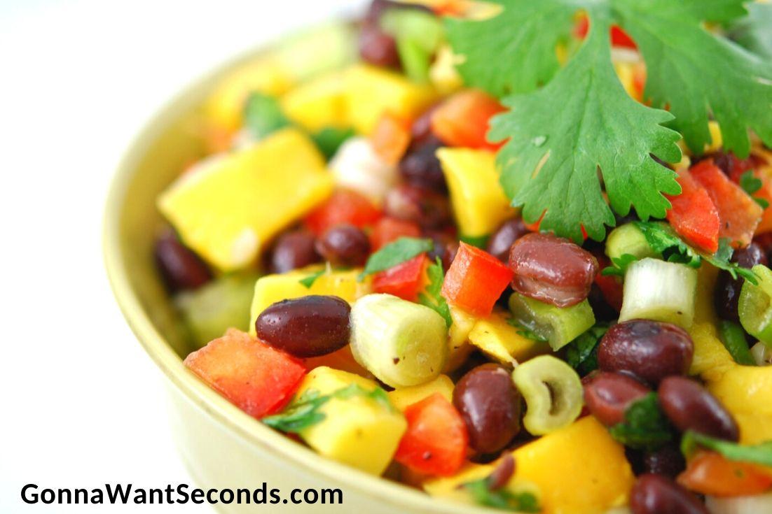 Mango Black Bean Salad in a bowl