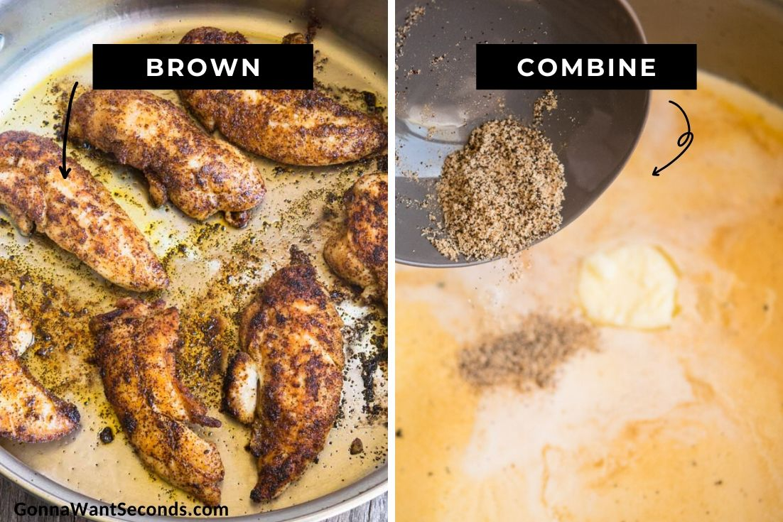How to make Chicken Lazone, cooking the chicken