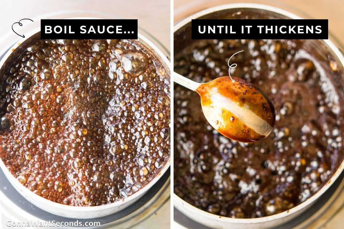 How to make Honey Balsamic Chicken, making the sauce