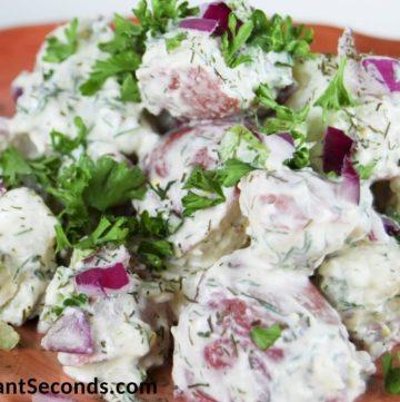 Ina Garten potato salad on a plate