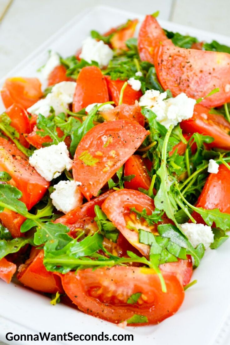 Marinated Tomato Salad on a serving plate