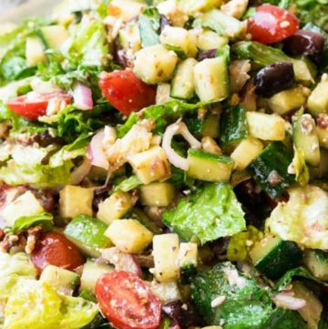 Mediterranean Salad on a serving dish