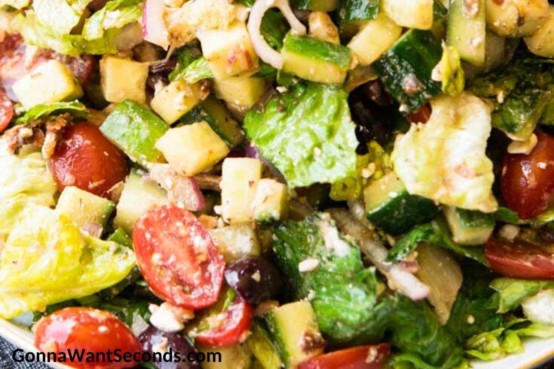Mediterranean Salad, close up