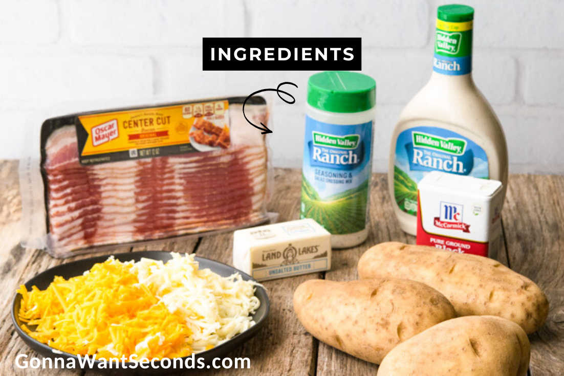 Prepared Ingredients for Ranch Potatoes
