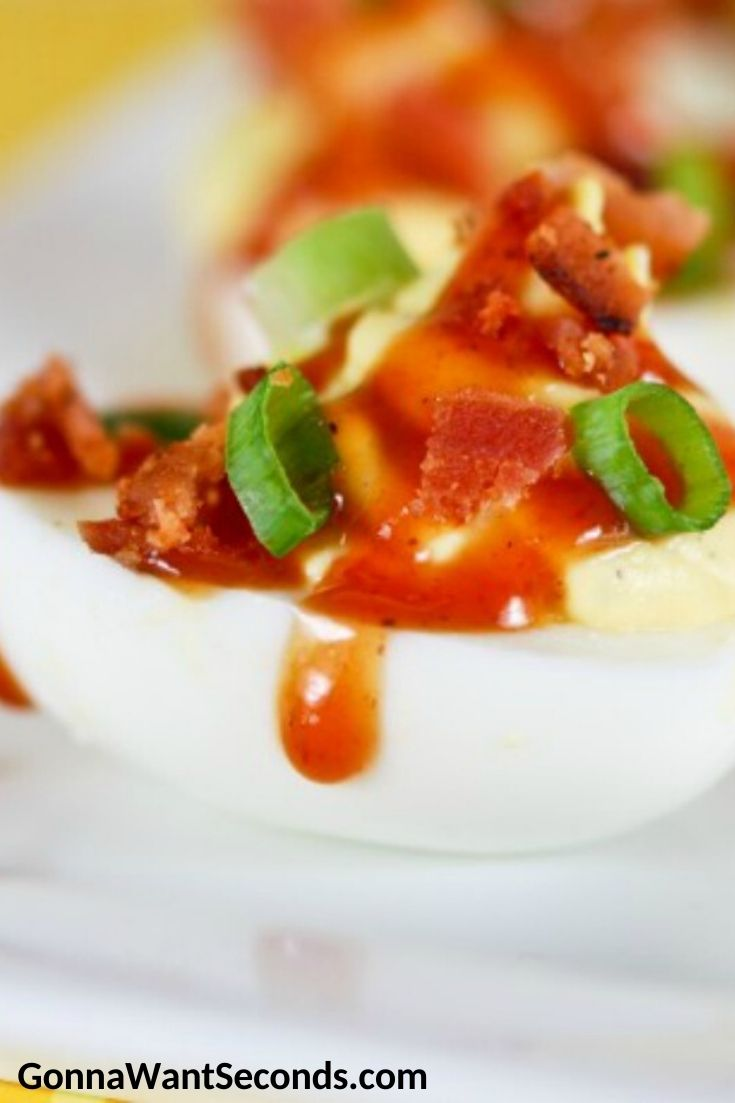Ranch Deviled Eggs, close up