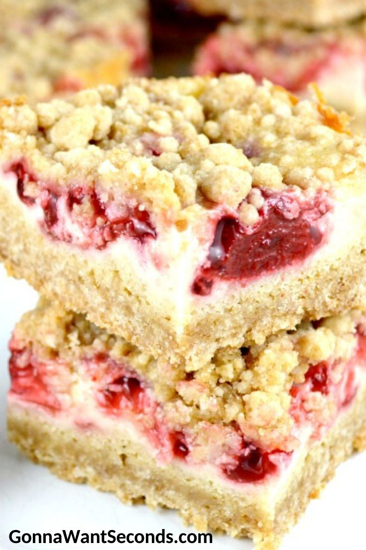 Strawberry Bars stack on top each other