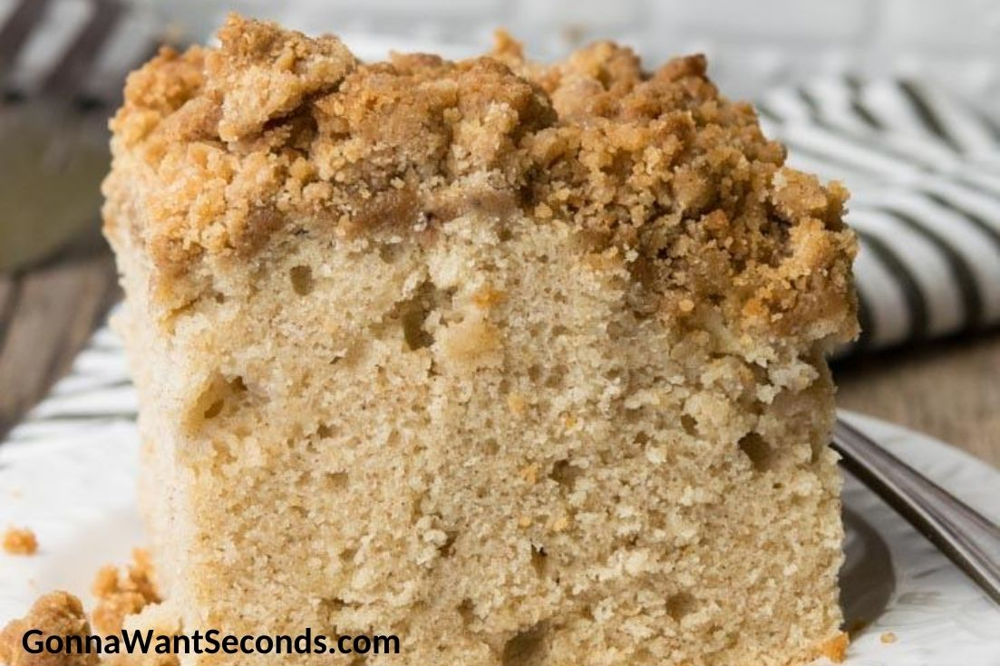 A slice of Apple Coffee Cake