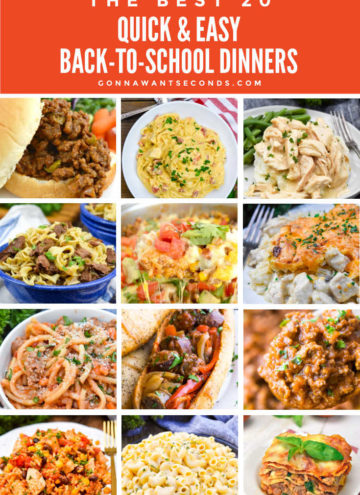Back-To-School-Dinners montage