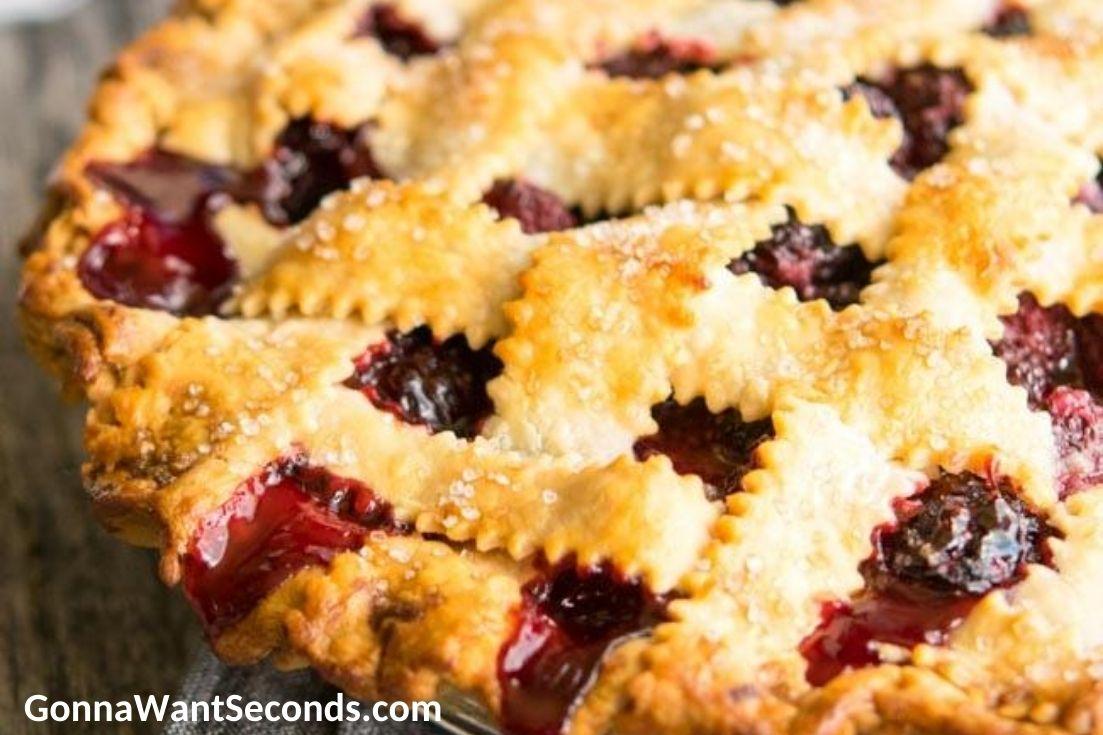 Blackberry Pie. close up