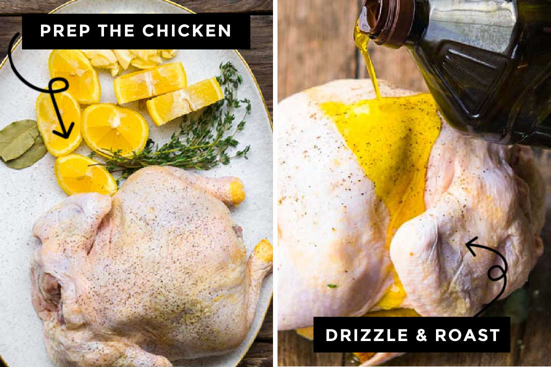 How to make million dollar chicken, preparing the chicken a day before roasting
