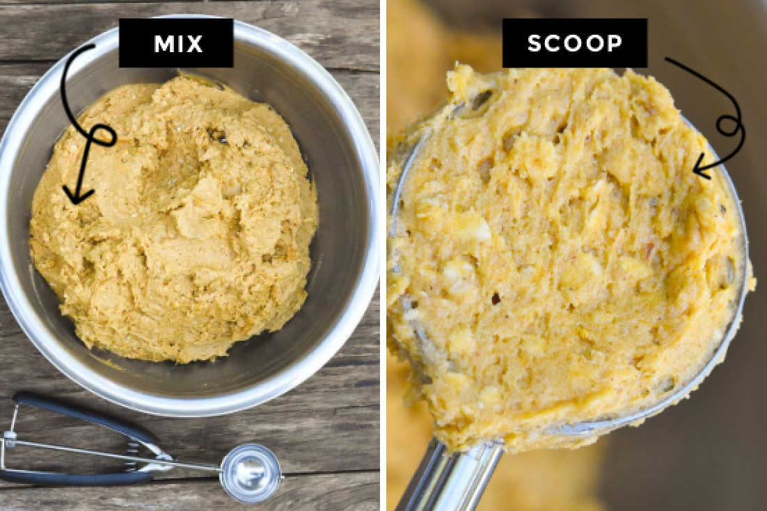 How to make pumpkin oatmeal cookies, making the dough