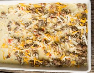 How to make Bisquick Breakfast Casserole, prebaked