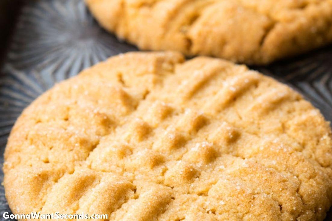 Classic Peanut Butter Cookies on a baking sheet