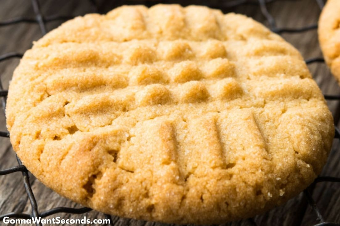 Classic Peanut Butter Cookies on a cooling rack