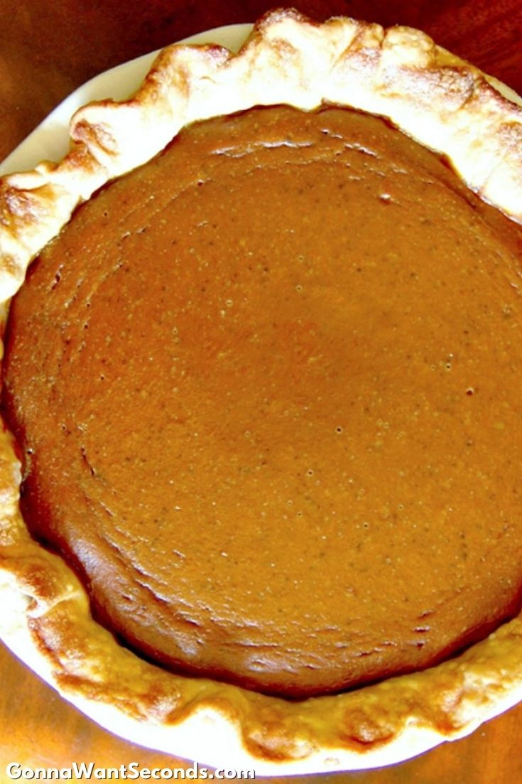 Pumpkin Pie, close up