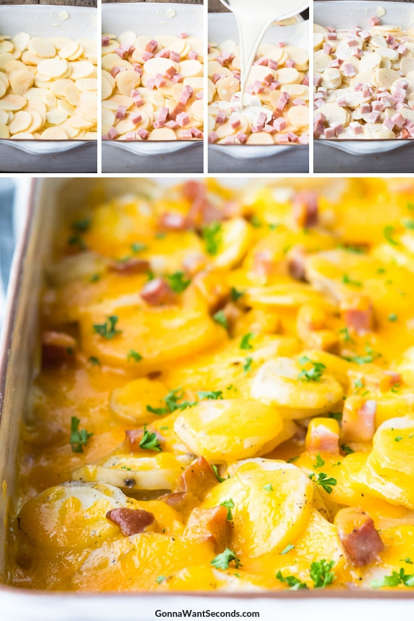 Step By Step How To Make Scalloped Potatoes and Ham