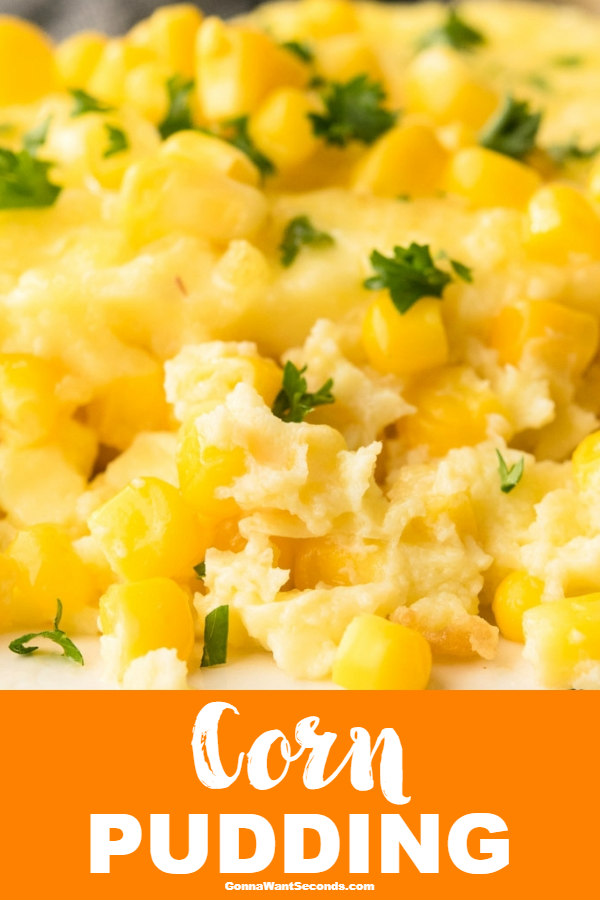 Our velvety, custardyCorn Pudding attains a new level of scrumptious! Its creamy corn filling is hearty and rich. Best of all- it's easy to make! #CornPudding #Corn