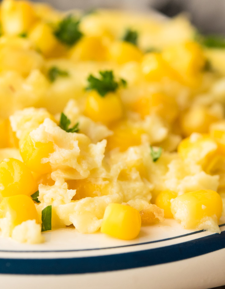 Corn Pudding on a plate