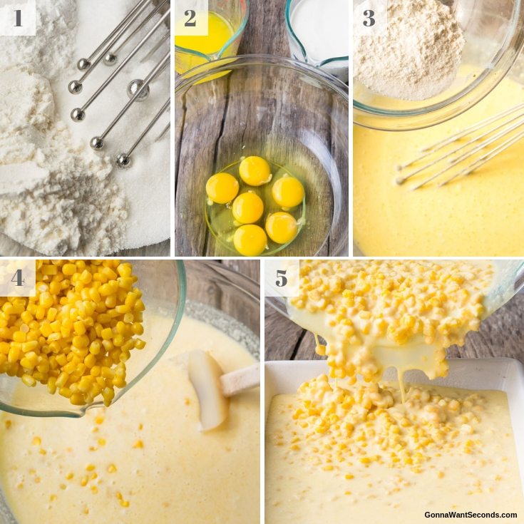 Step By Step How To Make Corn Pudding