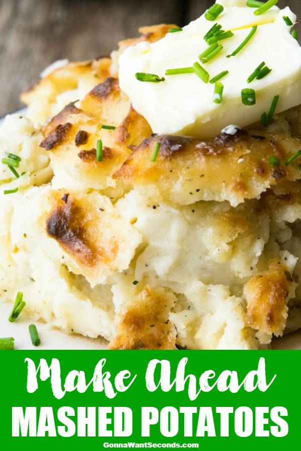 Make Ahead Mashed Potatoes offers that rich traditional creamy taste of the holidays, along with the gift of extra time... Just when you need it most!#MakeAheadMashedPotatoes #MashedPotatoes