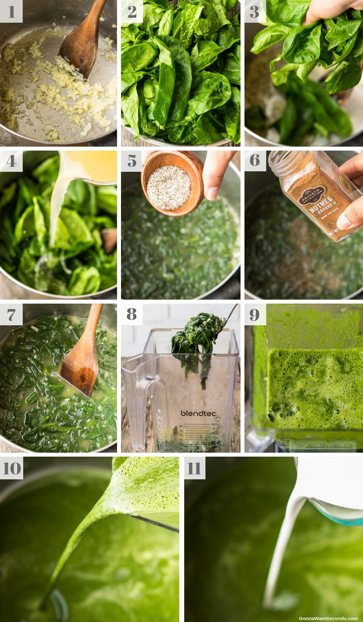 Step By Step How To Make Spinach Soup