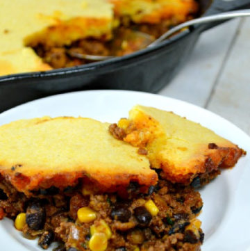 Tamale Pie on a plate