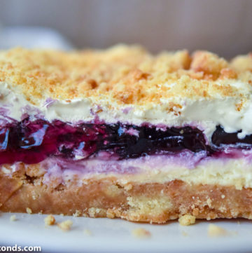 A slice of Blueberry Yum Yum