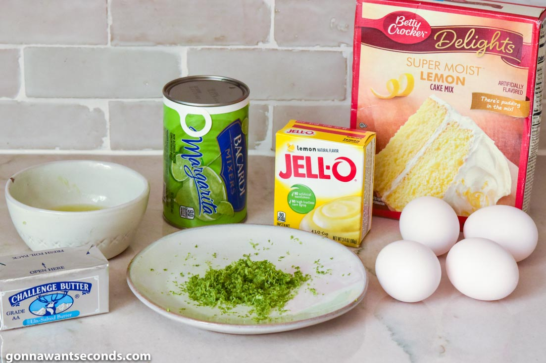 Margarita Cake prepared ingredients