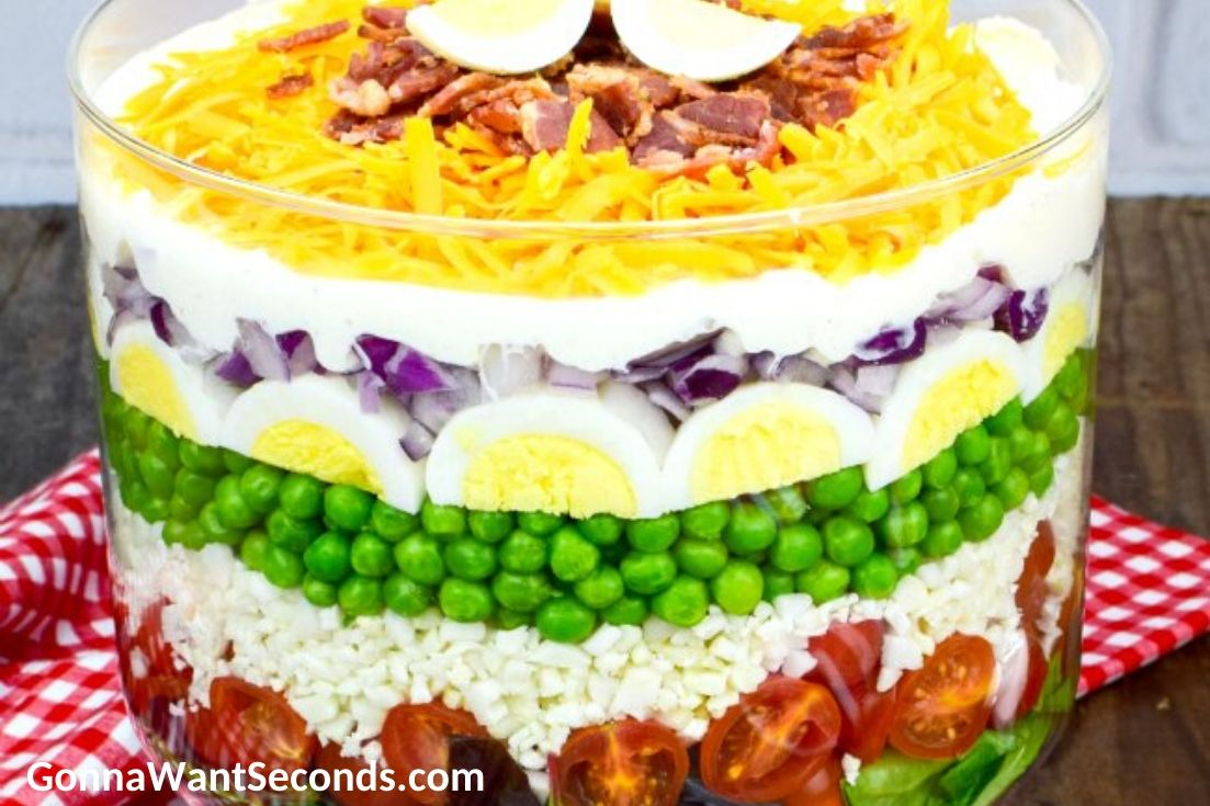Summer Sides and Salads, 7 Layer Salad