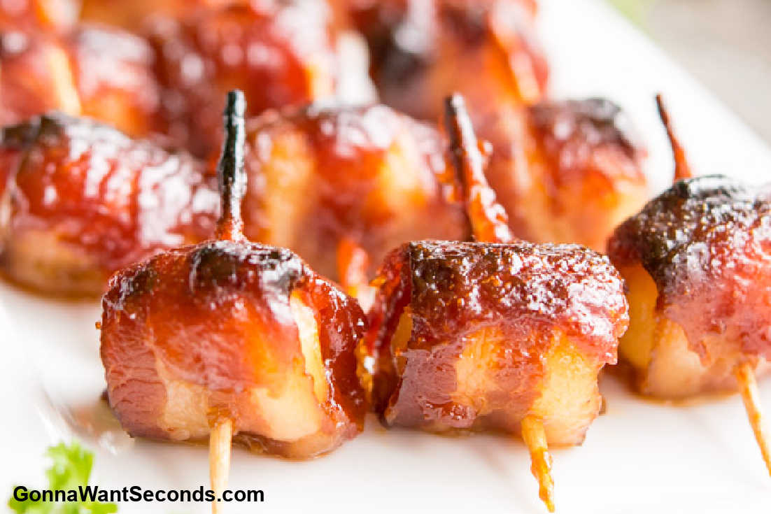 Summer Sides and Salads, Bacon Wrapped Water Chestnuts