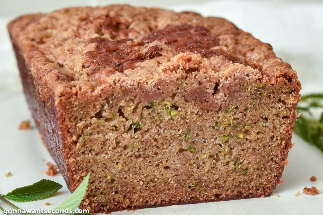 A loaf of Zucchini Bread