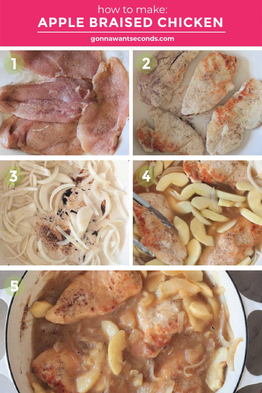 How to make Apple Braised Chicken