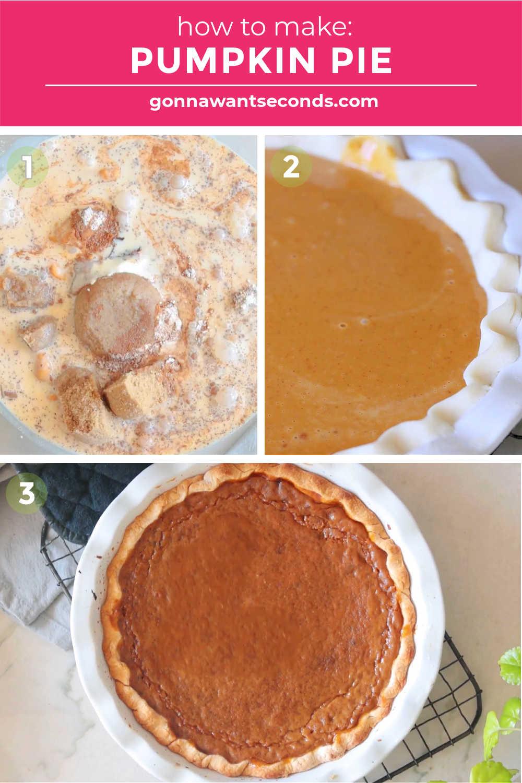 Step by step how to make pumpkin pie