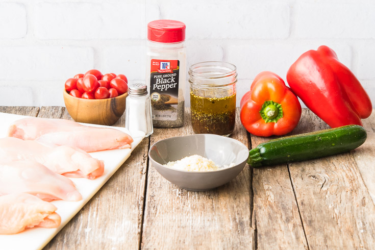 Prepared Ingredients for Italian Chicken