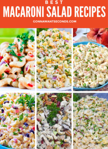 Macaroni Salad Recipes Montage
