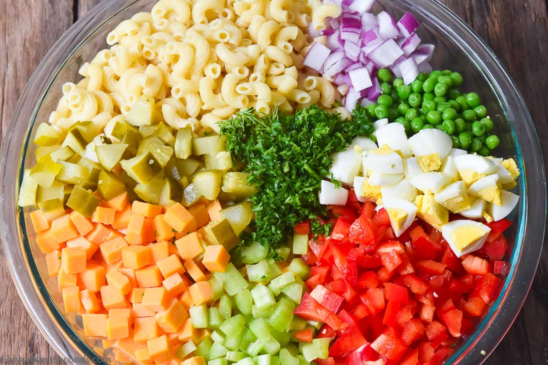 Ingredients for best macaroni salad